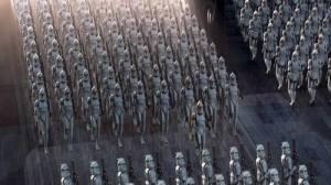 L'uniforme évoque l'armée, ici l'armée des clones